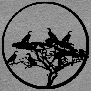 Tree savanna Vulture Africa Sun T-Shirts - Women's Premium T-Shirt