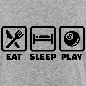 Eat sleep Billard T-Shirts - Kinder Premium T-Shirt
