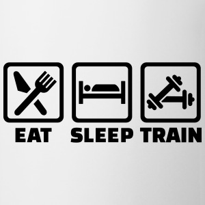 Eat sleep train Flaschen & Tassen - Tasse