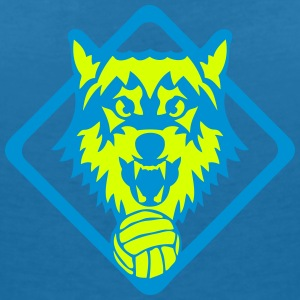volleyball logo sport loup equipe 31 Tee shirts - T-shirt col V Femme