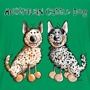 Two funny Australian Cattle Dogs Shirts - Teenage Premium T-Shirt