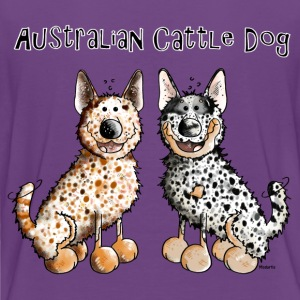Two funny Australian Cattle Dogs Shirts - Kids' Premium T-Shirt