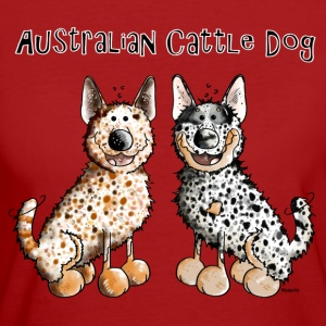 Two funny Australian Cattle Dogs T-Shirts - Women's Organic T-shirt