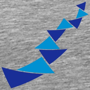Triangle pattern decoration T-Shirts - Men's Premium T-Shirt