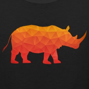Retro Triangle Origami Rhinoceros / Rhino Tank Tops - Men's Premium Tank Top