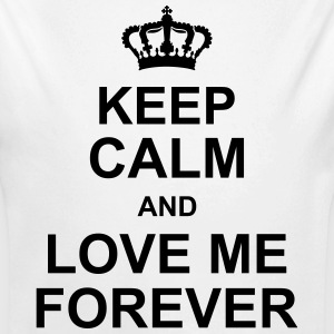 keep_calm_and_love_me_forever_g1 Tröjor - Ekologisk långärmad babybody