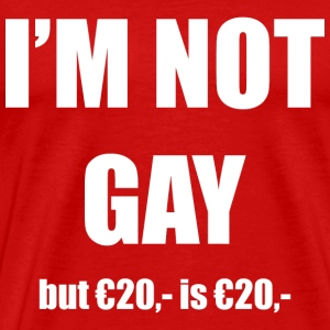 I'm not gay, but 20 euro is 20 euro T-shirts - Mannen Premium T-shirt