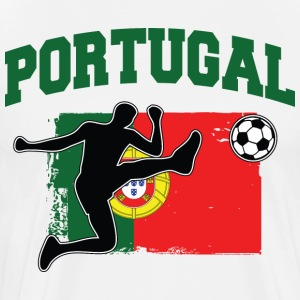 Portugal Football / Soccer T-skjorter - Premium T-skjorte for menn