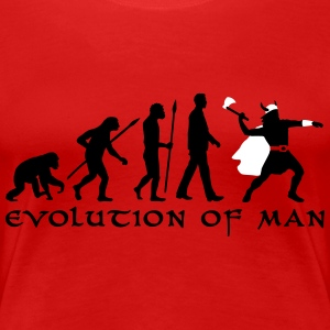evolution_of_man_viking_a_2c T-Shirts - Frauen Premium T-Shirt