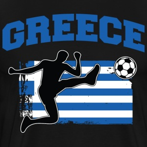 Greece Soccer / Football T-Shirts - Men's Premium T-Shirt
