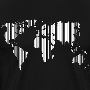 World as a barcode T-Shirts - Men's Premium T-Shirt