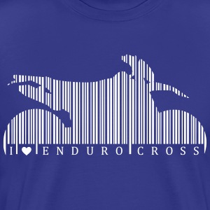 I Love Enduro Cross Barcode T-skjorter - Premium T-skjorte for menn