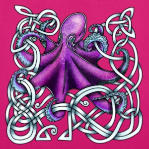 Celtic Octopus - Purple Bags & Backpacks - EarthPositive Tote Bag