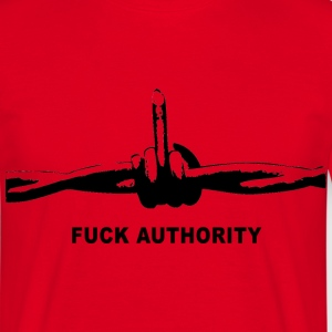 Fuck Authority (Barbwire) - Männer T-Shirt