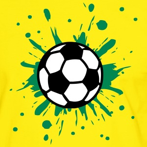 Football, Splash, Soccer, Splatter,  T-shirts - Kontrast-T-shirt herr
