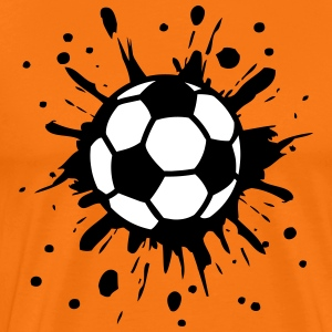 Football, Splash, Soccer, Splatter,  T-Shirts - Männer Premium T-Shirt