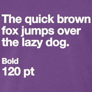 The quick brown fox jumps over the lazy dog T-Shirts - Men's Premium T-Shirt