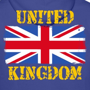 United Kingdom grunge flag Sweat-shirts - Sweat-shirt à capuche Premium pour hommes