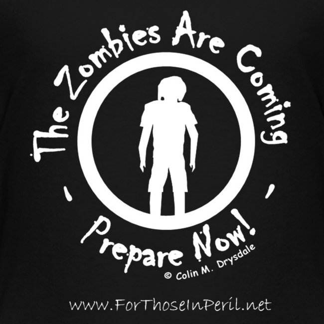 Children's T Shirt - Zombies Are Coming