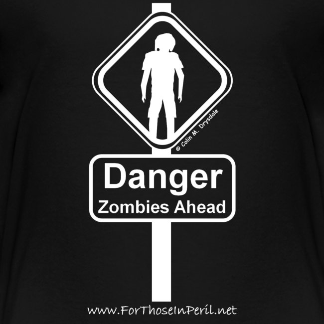 Children's T Shirt - Danger Zombies Ahead
