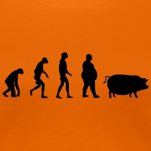 Evolution from ape to man to pig T-Shirts - Women's Premium T-Shirt