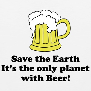 save earth and beer T-Shirts - Men's Premium Tank Top