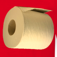 Ontwerp ~ Grappig camping T-shirt met WC rol onder de arm