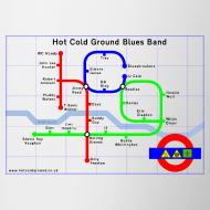 Design ~ Hot Cold Ground Tube Map Mug
