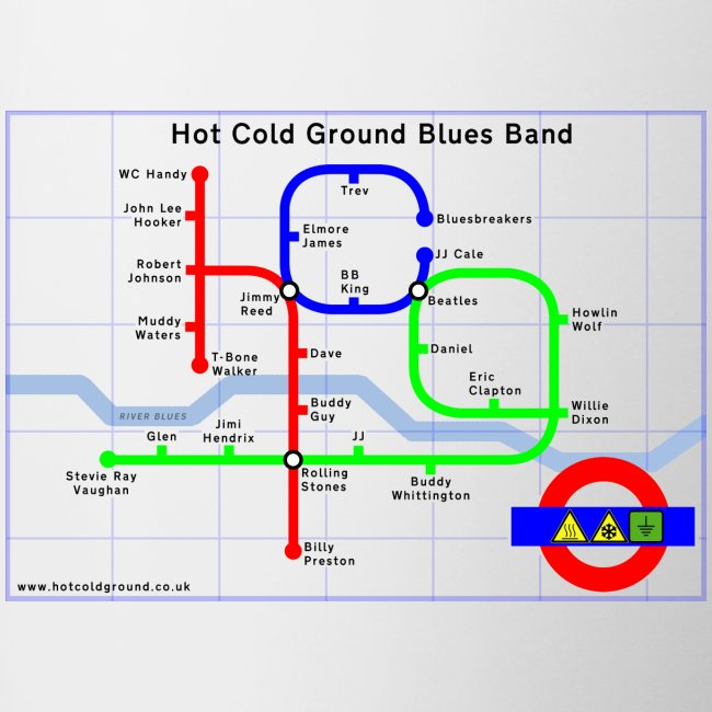 Hot Cold Ground Tube Map Mug
