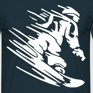 Snowboarder Tee shirts - T-shirt Homme