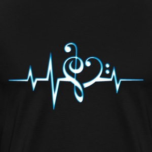 Music, pulse, notes, Trance, Techno, Electro, Goa T-shirts - Mannen Premium T-shirt