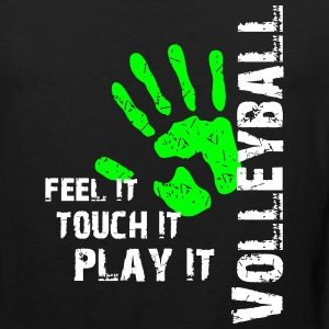 Volleyball feel it touch it play it Tank Tops - Männer Premium Tank Top