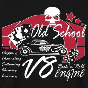 Old School Rock'n'Roll - Hot Rod V8 - Männer Premium T-Shirt