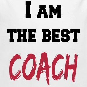I am the best coach Sweaters - Baby bio-rompertje met lange mouwen