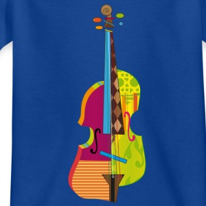 A colorful violin  Shirts - Kids' T-Shirt