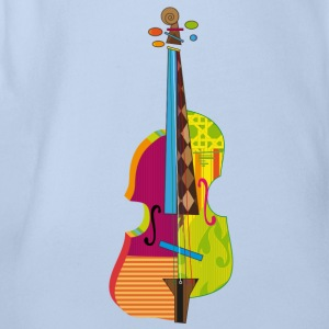 A colorful violin  Shirts - Organic Short-sleeved Baby Bodysuit