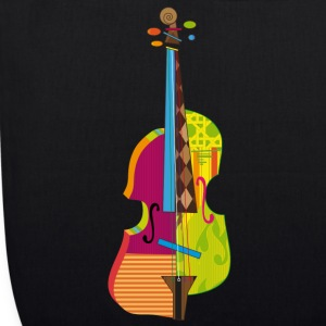 A colorful violin  Bags & Backpacks - EarthPositive Tote Bag