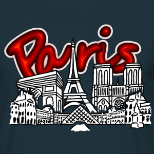Paris Skyline T-Shirts - Männer T-Shirt