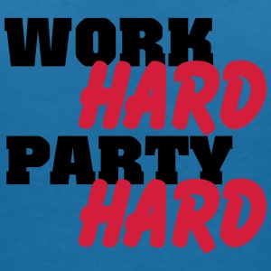 Work hard, party hard T-Shirts - Women's V-Neck T-Shirt