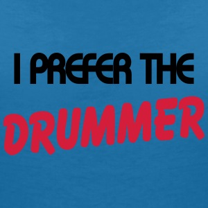 I prefer the drummer Tee shirts - T-shirt col V Femme