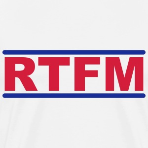 RTFM - Read The Fucking Manual T-shirts - Herre premium T-shirt