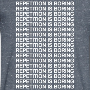 Repetition is boring Tee shirts - T-shirt Homme col V