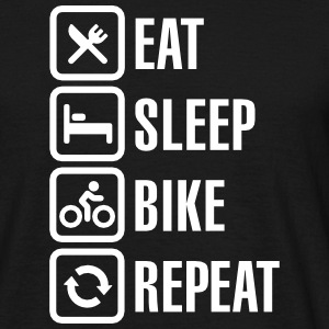 Eat sleep bike repeat Camisetas - Camiseta hombre