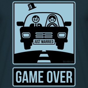 Just Married – Game Over (2C) T-Shirts - Men's T-Shirt