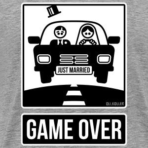 Just Married – Game Over (2C) T-Shirts - Männer Premium T-Shirt
