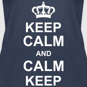 keep_calm_and_calm_keep_g1 Tops - Frauen Premium Tank Top