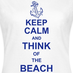 keep_calm_and_think_of_the_beach_g1 Camisetas - Camiseta mujer