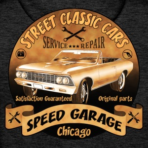 vintage us street car 02 Hoodies & Sweatshirts - Men's Premium Hoodie
