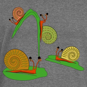 snails in the garden Hoodies & Sweatshirts - Women's Boat Neck Long Sleeve Top