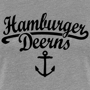 Hamburger Deerns T-Shirt (Grau) - Frauen Premium T-Shirt